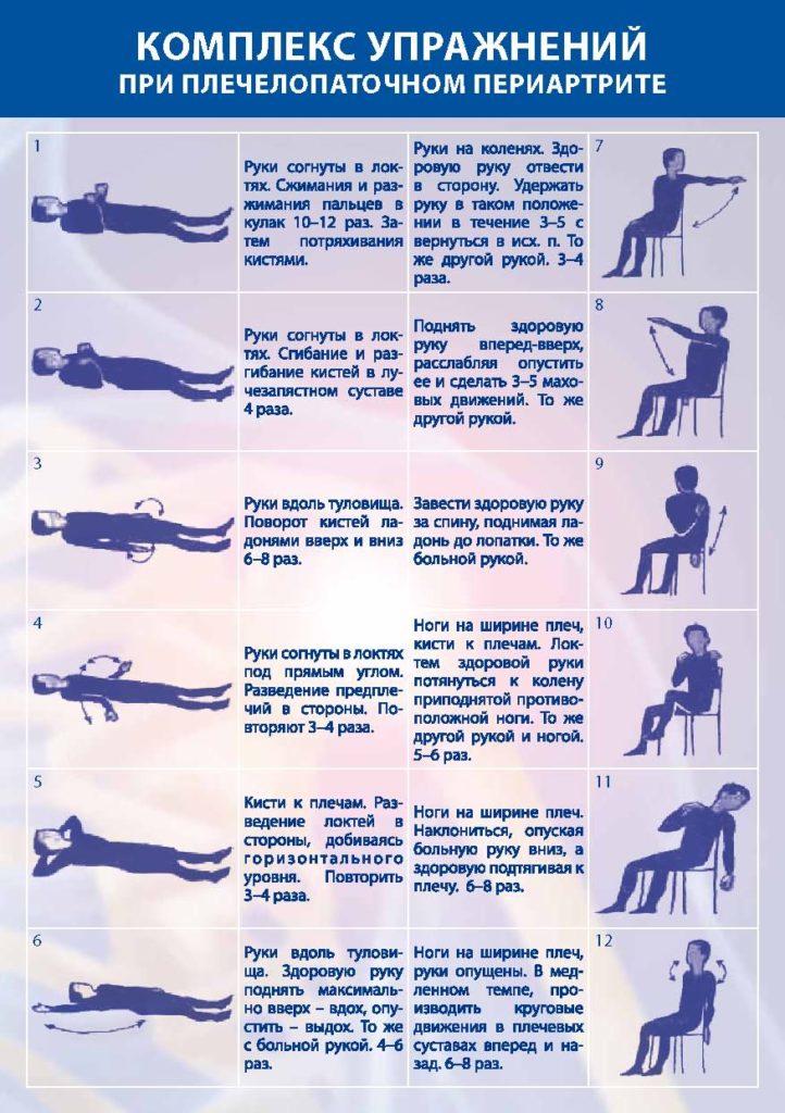 лечебная гимнастика при плечелопаточном периартрите видео