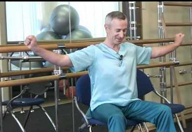 гимнастика плечелоп периартрит по методу попова видео