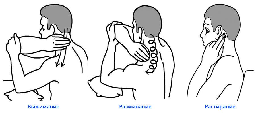 массаж шейно воротниковой зоны при остеохондрозе видео